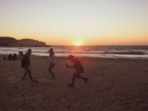 Sunset att livadia beach
